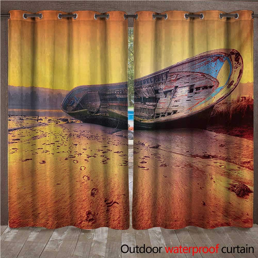 Ships Rueda Interior Exterior Cortina Marinero Rayas Breton con ...
