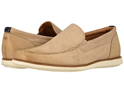 Florsheim Atlantic Moc Toe Venetian Slip-On (Sand Nubuck w/ White Sole) Men