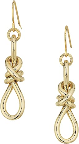 LAUREN Ralph Lauren - Classic Metal Knots Drop Earrings