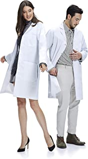 Dr. James Unisex Lab Coat, Perfect as a Halloween Dress Up Costume, Classic Fit, White
