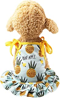 succeedtop Pet Clothes for Girls Pet Apparel for Small Dogs Pet Couples Dress Puppy Dog Princess Lovely Strawberry/ Pineap...