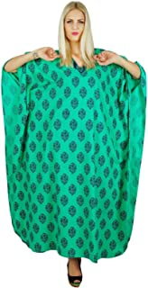 Kaftan Printed Women Dress Bohemian Long Cotton Maxi Nightwear Caftan