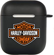 Harley Davidson AirPods 2&1 Case, Protective Soft Silicone Cute Luxury Fashion Cover with Keychain for Teens