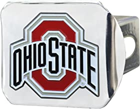 THE Ohio State University METAL emblem with colors on chrome METAL Hitch Cover AMG