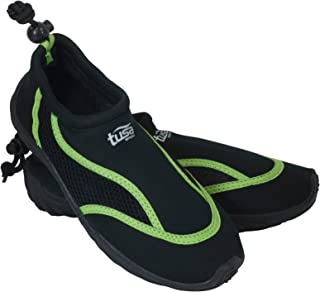 TUSA Sport Slip-On Aqua Shoe, Black/Green, Size 3
