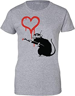 BANKSY PANDA PISTOLE Divertente T-shirt da donna 12 colori