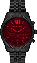 Michael Kors Men's Lexington Quartz Watch with Stainless Steel Strap, Black, 22 (Model: MK8733)