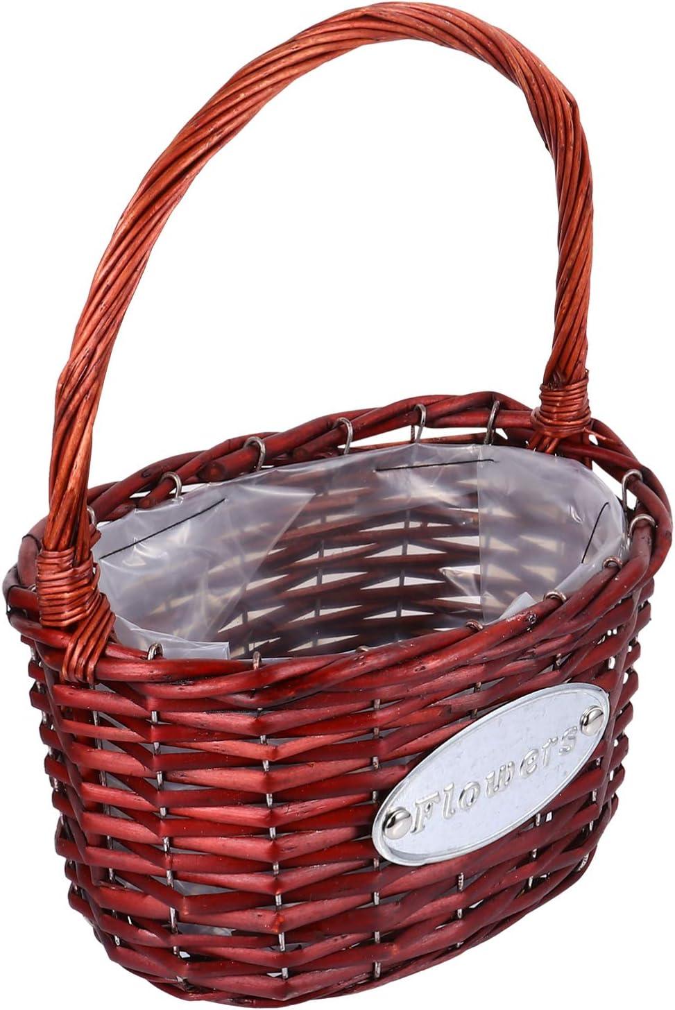 DOITOOL Wicker 55% OFF Flower Long-awaited Girl Basket Seagrass Plant G Rattan