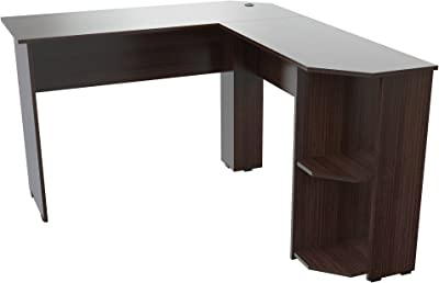 Amazon.com: Sauder 423262 Canal Street L-Desk, White ...
