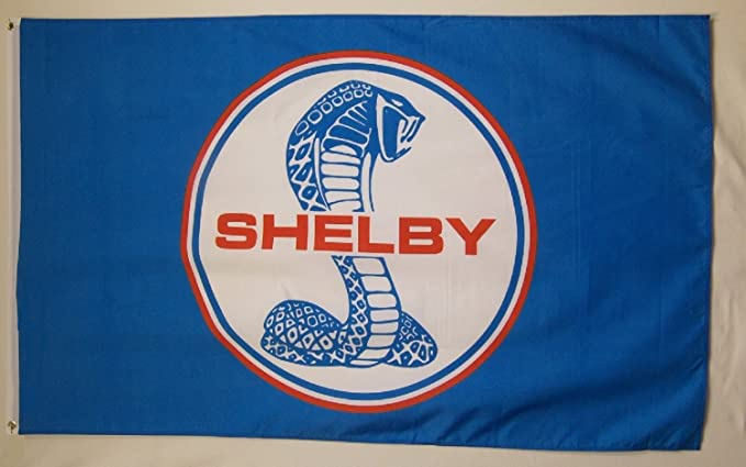 Shelby Cobra Flag Banner 3x5 ft Motorsport Car Racing Red