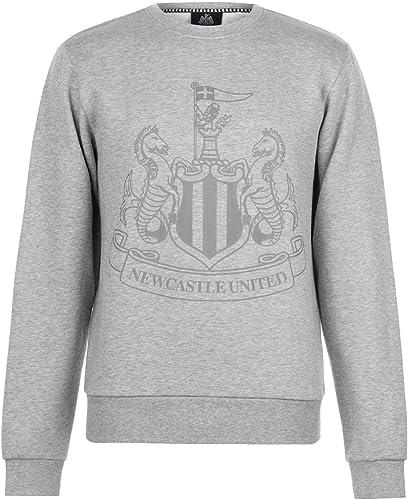 nouveaucastle United Grand Logo Sweat Hommes gris Football Ballon Pull