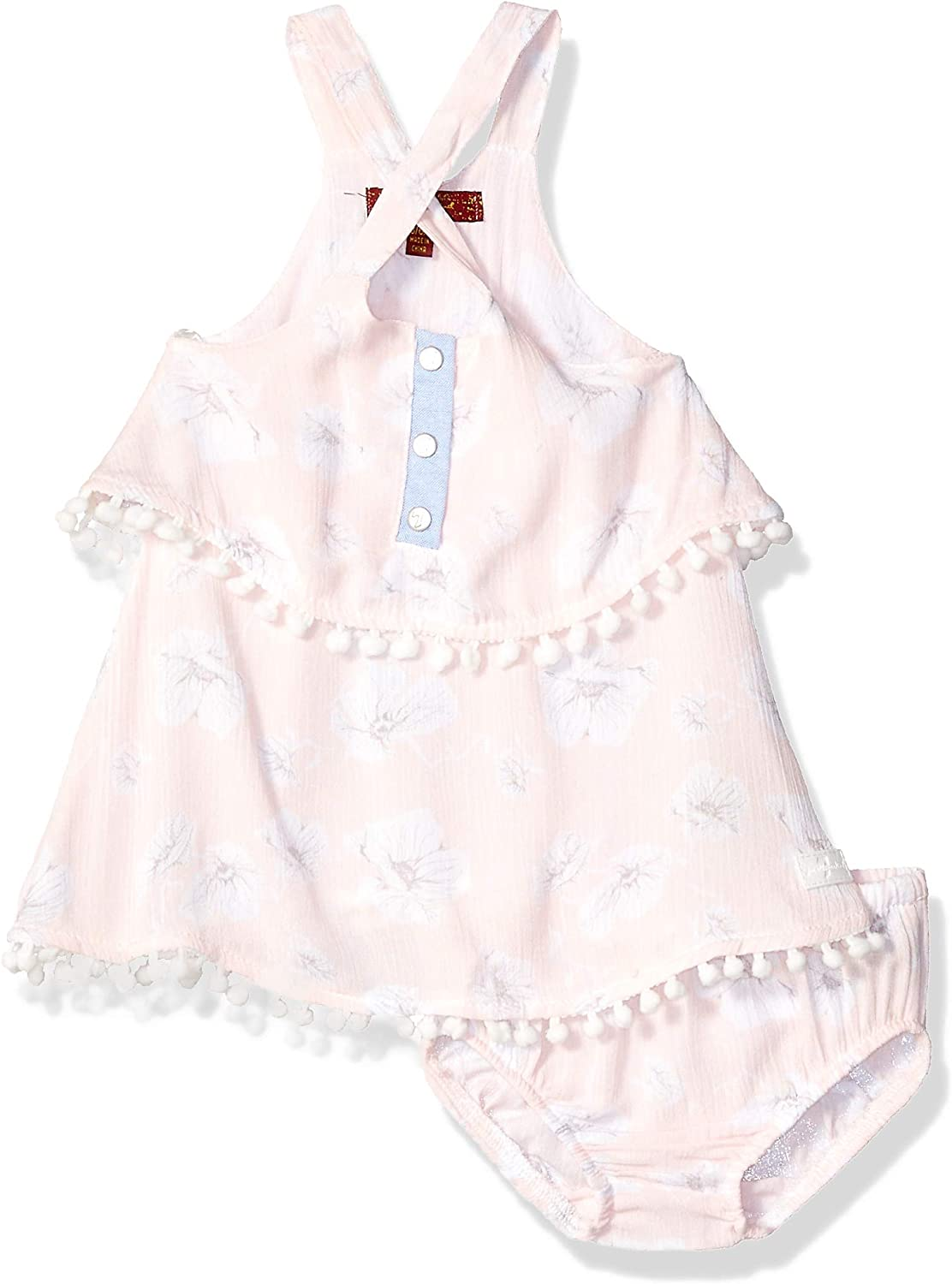 Free shipping on posting reviews 7 For All Mankind Baby Manufacturer OFFicial shop Girls with Dress Crinkle Bloomer Tiered C