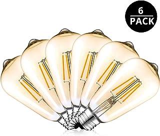 Vintage Edisen Bombilla, 4W (40W)LED Bombillas de ahorro de energíacon Filamento,