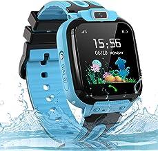 Kids Smart Watch, SOS IP67 Waterproof Phone Smartwatch HD Touch Screen Digital Wrist Watch GPS Tracker for Boys Girls Birt...
