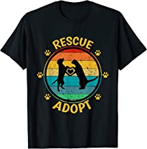 Vintage Rescue Adopt Animal Pets Dog Cat Paw Heart Adoption T-Shirt