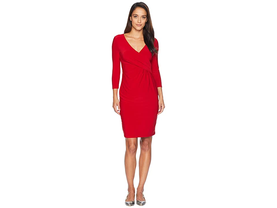 LAUREN Ralph Lauren Petite Cleora Dress (Red) Women