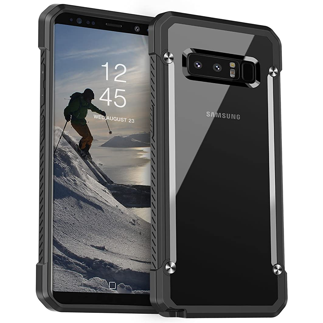 Galaxy Note 8 Case, Ztotop Shock-Absorption Protection Rugged Case Hard Back Premium Hybrid Protective Clear Cover for Samsung Note 8,(2017 Release),Black