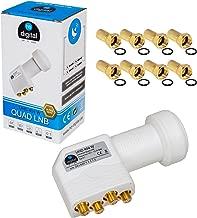 LNB QUAD 4 receptores LNC directamente Quattro Switch 4fach FULL HD TV 3D + con contactos dorados + Protección contra la intemperie (extensible) vía satélite de satélite DIGITAL con receptor en HB 4 F-connettore incluye dorado