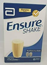 ENSURE SHAKE POWDER SACHET BANANA – 7 X 57G Estimated Price : £ 9,64