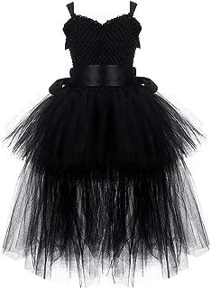 Tutu Dress Tulle V-Neck Train Girl Evening Birthday Party Dresses Girl Ball Gown Dress Costume 2-8Y