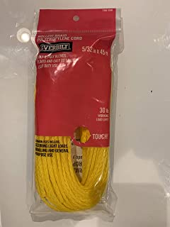 5/32 in x 45 ft Polypropylene Hollow Braid Rope, 30 lb Working Load Limit