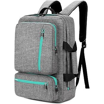 SOCKO 17 Inch Laptop Backpack Convertible Backpack Travel Computer Bag Hiking Knapsack Rucksack College Shoulder Back Pack Fits up to 17 Inches Laptop Notebook for Men/Women, Grey-Green