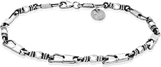 Honolulu Jewelry Company 纯银渔夫人鱼饵,仿古表面环形手链