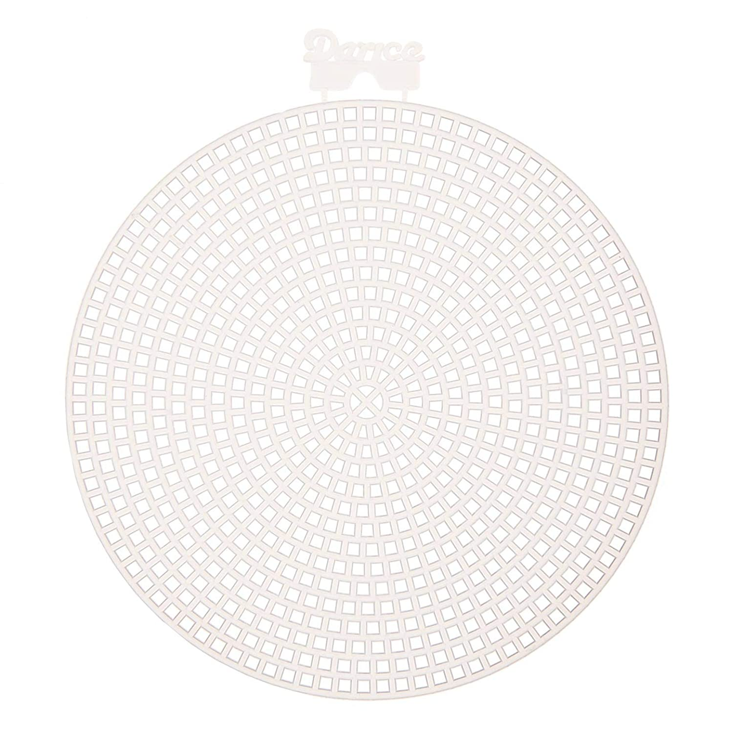 Bulk Buy: Darice DIY Crafts Plastic Canvas Shape Round 4.5 inches 10 pieces (3-Pack) 33004