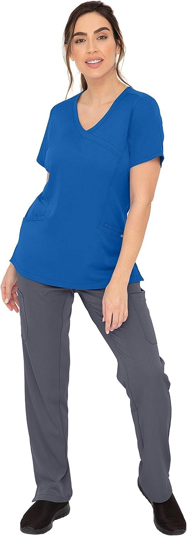 SOULFUL SCRUBS Wholesale Set 5 Pocket Gifts Camila Band Yoga Waist Pant Pewter w