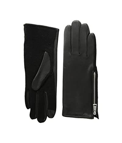 LAUREN Ralph Lauren Perforated Gusset Touch Gloves (Black) Extreme Cold Weather Gloves