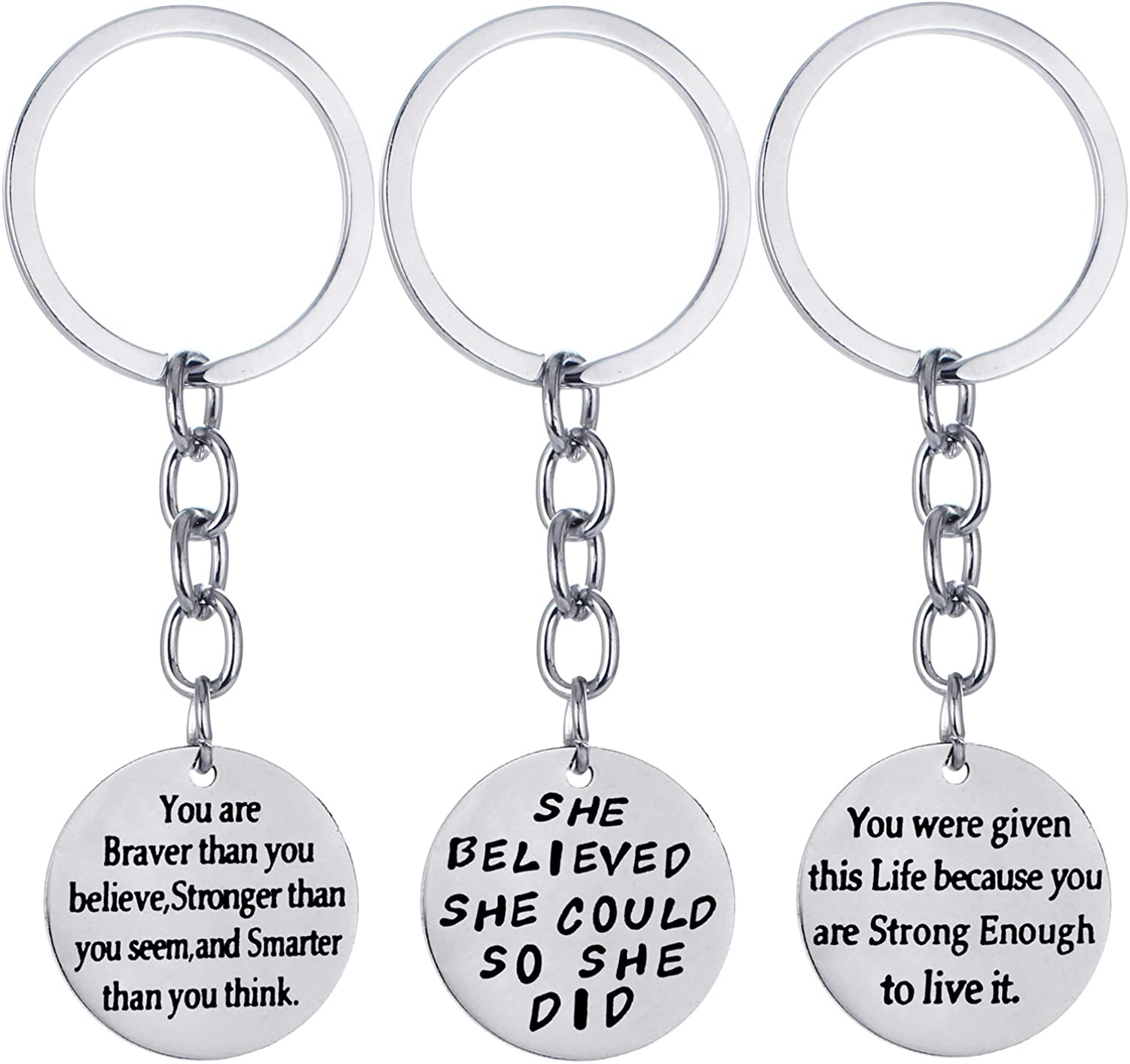 Over item handling Pack of 3 Inspirational Gifts Inspiration Keychain In stock