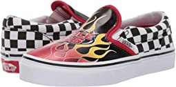 7bbb5913f6 (Race Flame) Black Racing Red True White. 126. Vans Kids. Classic Slip-On  ...