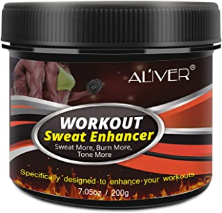 Sweat Workout Enhancer Gel, Belly Fat Burners for Women and Men, Sweat More, Burn More, Cellulite Cream for Abdomen, Thigh...