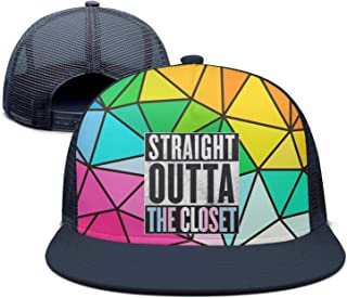 HYUINVV Straight Outta The Closet Gay and Lesbian Pride Street Dancing Sports Cap 100% Cotton Back Closure Casual Hats