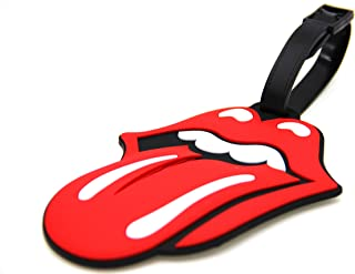 CellDesigns The Rolling Stones Red Tongue Luggage Tag Tag with Adjustable Strap