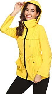 Raincoats Waterproof Lightweight Rain Jacket Active Outdoor Hooded Women's Trench Coats