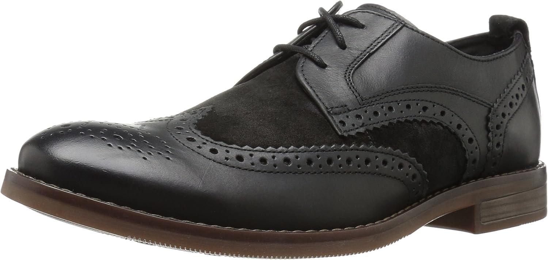 Rockport Herren Wynstin Flügelspitze Schuhe, 46.5 EU, schwarz