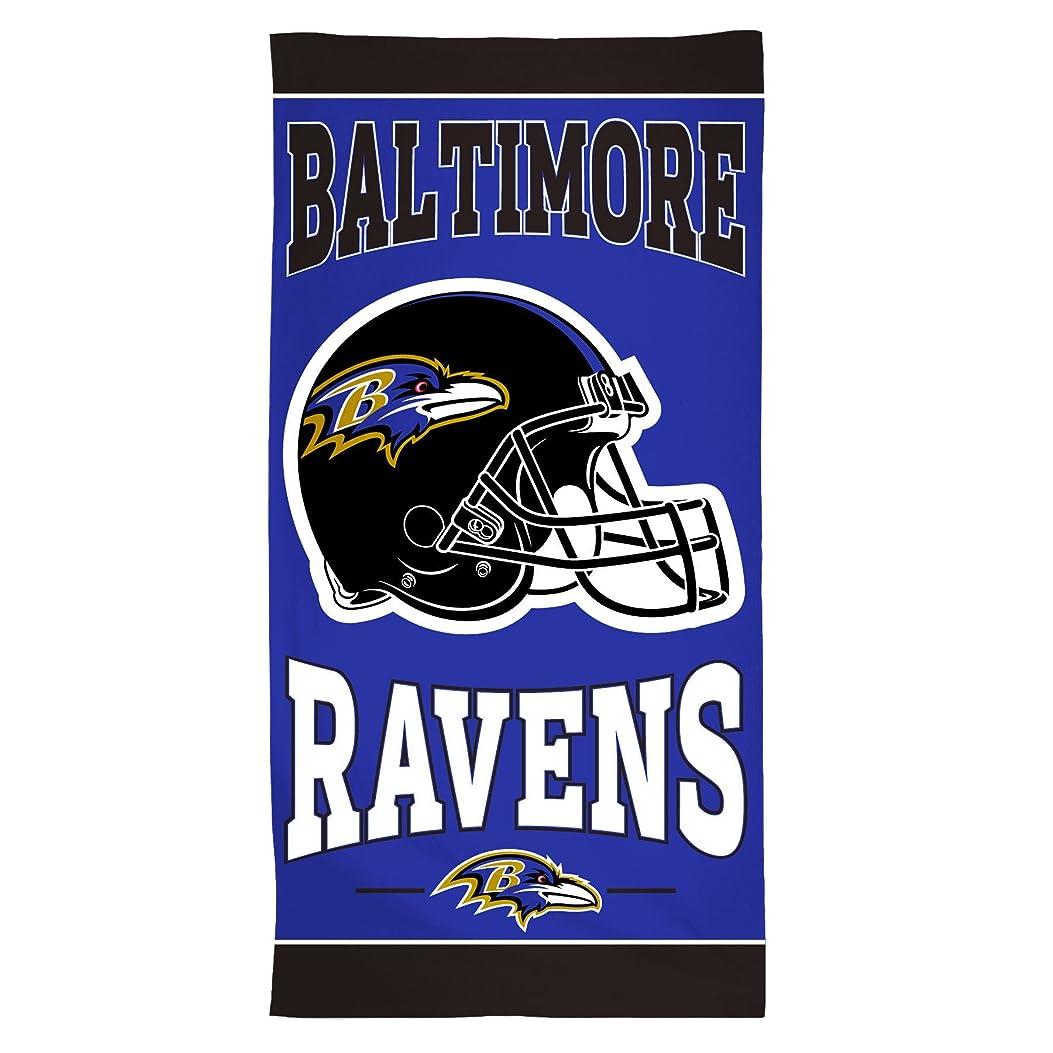忘れっぽい時折女性NFL Baltimore Ravensファイバービーチタオル、30?