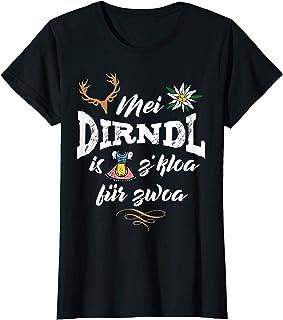 """Mei Dirndl T-Shirts für Schwangere Damen Mei Dirndl is z""""kloa für Zwoa Dirndl Ersatz f. Schwangere T-Shirt"""