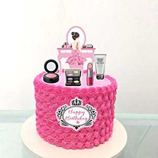 PureArte DIY Happy Birthday Diva Fashion Theme Cake Decoration Set For Girls And Women Party Decoration Lipstick Tote Bag ...
