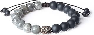 Mens Womens Stone Buddha Head Prayer Bracelet