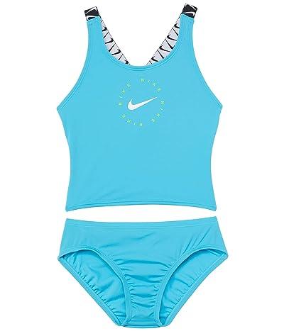 Nike Kids Nike Logo Tape Cross-Back Midkini Set (Little Kids/Big Kids)
