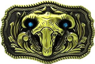 HOMYL Vintage Belt Buckle Bull Head Cowboy Western Metal Belt Buckle Mens Gift