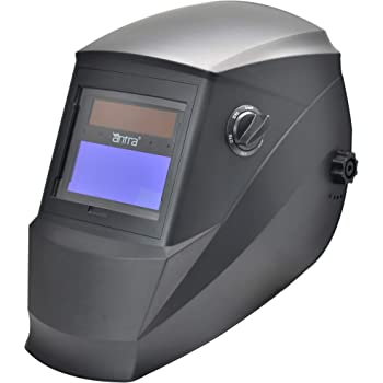 Antra AH6-260-0000 Auto Darkening Welding Helmet Wide Shade Range 4/5-9/9-13 Engineered for TIG MIG/MAG MMA Plasma Grinding, Solar-Lithium Dual Power, 6+1 Extra Lens Covers