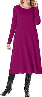 Women's Plus Size Thermal Knit A-Line Dress