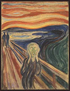 The Scream, Edvard Munch. Blank journal: 150 blank pages, 8,5x11 inch (21.59 x 27.94 cm) Laminated