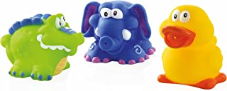 Nuby Baby Bath Fun Toys Squirter for Infants, Kids and Toddlers(Crocodile, Elephant and Duck) Pack of 3