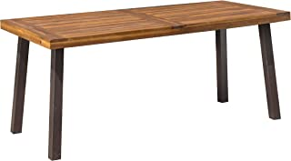 Christopher Knight Home 298192 Spanish Bay Acacia Wood Outdoor Dining Table | Perfect for Patio | with Teak Finis, Brown