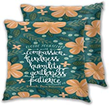 AW-KOCP 2 Packs Christian Bible Verses Decorative Throw Pillow Covers for Bed Pillows, Many Pattern & Size Options