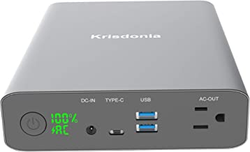AC Power Bank Krisdonia 60000mAh/222Wh 130W AC Outlet Portable Laptop Charger External Battery Pack for Laptop, MacBook and More
